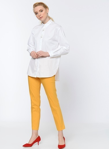 Sırt Detaylı Uzun Gömlek-Random